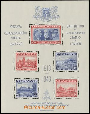 132110 - 1940 Exilové vydání, AS1, Londýnský aršík, pěkná kvalita, ka