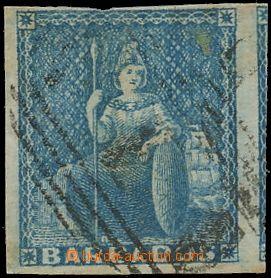 132346 - 1852 Mi.2xa; SG.3, Sedící Britannia modrá, bez nomináln�