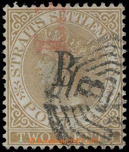 132347 - 1882 POŠTA V BANGKOKU  Mi.2, Královna Viktorie 2c hnědá, Str
