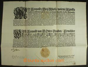 132353 - 1701 LEOPOLD I., (1640–1705), císař římský, král český a uhe