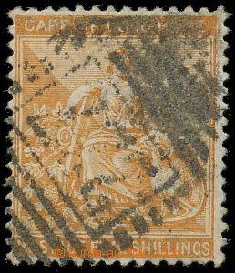 132588 - 1882 SG.45, Alegorie 5Sh oranžová, průsvitka P 3 (CA), hleda