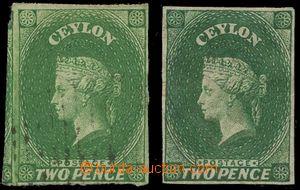 132591 - 1857 Mi.3ya+b, Královna Viktorie 2P, sestava 2ks známek, z t