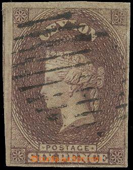 132592 - 1857 Mi.6ya; SG.6, Královna Viktorie 6P hnědofialová, nádher