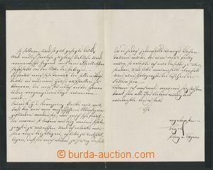 132655 - 1878 LEOPOLD BAVORSKÝ (1846–1930), polní maršál; vlastnoručn