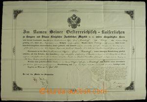 132696 - 1848 MILITARIA, AUTOGRAMY  povyšovací dekret do hodnosti p