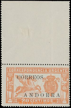 132746 - 1928 Mi.14, Express stamp with control number on gum, margin
