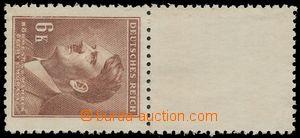 132782 - 1942 Pof.94K, Hitler 6K hnědá, s horním kupónem z roztrženéh