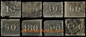 132788 - 1866 Mi.11A-18A, Číslice 10R-600R, tzv. Kočičí oči, Ř