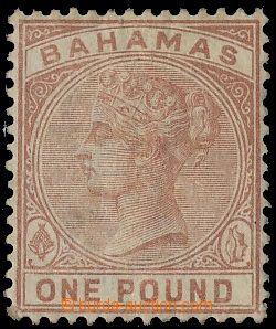 132799 - 1884 Mi.18; SG.57, Královna Viktorie £1 hnědočerven�