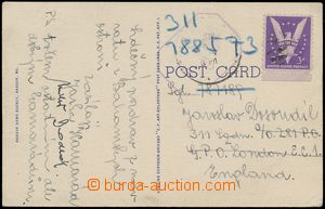 132932 - 1942? RAF  postcard from Bangoru (USA) to England with signa