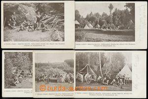 132935 - 1913 SKAUTING  sestava 5ks propagačních pohlednic, 4x pro�