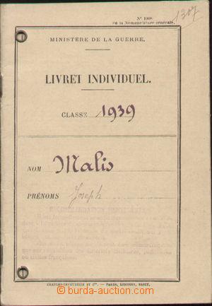132937 - 1939 CIZINECKÁ LEGIE  průkaz českého vojáka, výborný