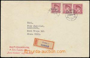 132951 - 1939 R-dopis vyfr. smíšenou frankaturou zn. Pof.303 2x, 352