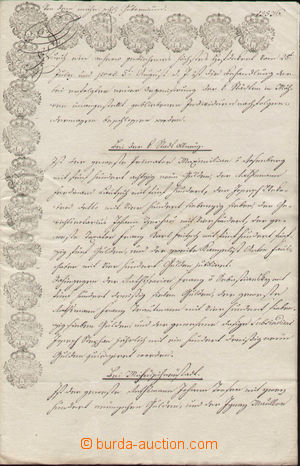 132978 - 1787 AUSTRIA  document from moravian gubernium with extraord