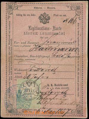132997 - 1857 RAKOUSKO (MORAVA)  legitimace s listinným kolkem I. em