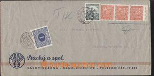 132998 - 1939 firemní dopis do Jihlavy vyfr. smíšenou frankaturou čs.