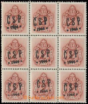 133023 - 1944 CHUST  Pof.RV202, Majer C29, doplatní 2f, 9-blok, kat.