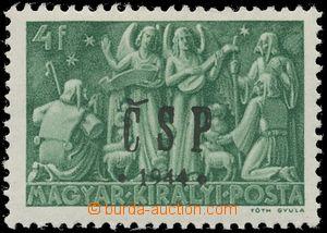 133024 - 1944 CHUST  nevydaná I., Majer.C39N, Vánoce 4f zelená, zk