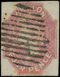 133071 - 1857 Mi.4y; SG.4, Královna Viktorie 4P, tmavě růžová, vzadu