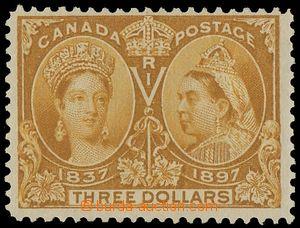 133094 - 1897 SG.138; Sc.63, Jubilejní $3 žlutohnědá, původní lep, zo