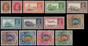 133143 - 1939 Mi.39-51, Jiří VI. s přetiskem KUWAIT, kompletní série,