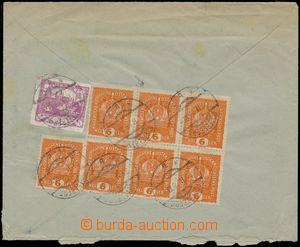 133146 - 1919 R-dopis adresovaný na Dělnickou úrazovou pojišťovnu se