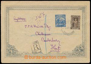 133153 - 1919 ozdobný R-dopis do Anglie, vyfr. zn. Mi.87,114, DR ROU