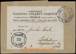 133154 - 1919 Časopis lékařů českých Praha - výstřižek z novinové zás