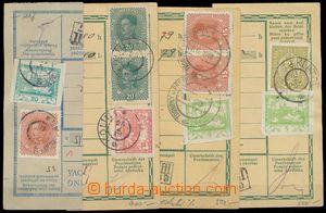 133191 - 1919 sestava 4ks ústřižků rakouských průvodek s různými smíš
