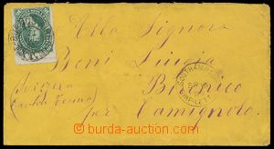133215 - 1880 dopis frankovaný 16C s průsekem, Mi.33, krajový kus,