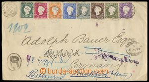 133220 - 1897 R-dopis frankovaný 8-barevnou frankaturou vydání 188