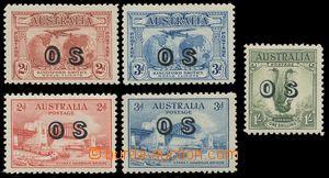 133280 - 1931-32 Mi.D1-2, D11-13; SG.O123-124, O134-135, O136, sestav