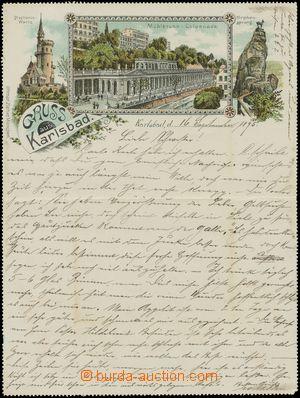 133308 - 1895 KARLOVY VARY (Karlsbad) - litografická koláž uvnitř