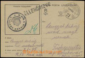 133338 - 1939 PODKARPATSKÁ RUS  lístek PP s DR TÁBORI POSTAHIVATAL 21