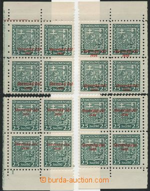 133378 - 1939 Alb.5, Coat of arms 25h green, miniature with plate num