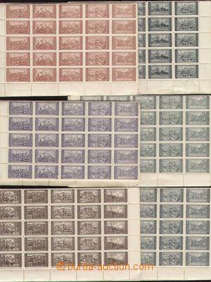 133426 - 1930? [SBÍRKY]  ČSR I.  sestava 6ks kompletních 300-kusov