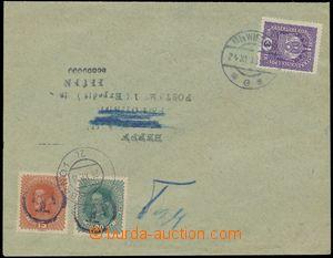 133439 - 1918 tiskopis do Brna vyfr. zn. 3h fialová Koruna s DR WIEN