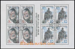 133572 - 1997 Pof.A142/143, miniature sheet Jewish Monuments, without