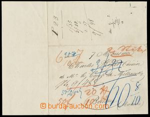 133980 - 1837 ŠLECHTICKÁ KORESPONDENCE  předtištěný dopis z Kehlu do