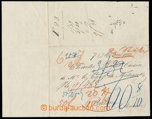 133980 - 1837 NOBILIARY CORRESPONDENCE  preprinted letter from Kehlu