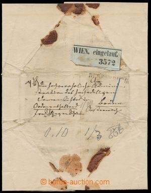 133985 - 1866 BAVORSKO  kompletně zachovalý balíkový obal, odesláno z