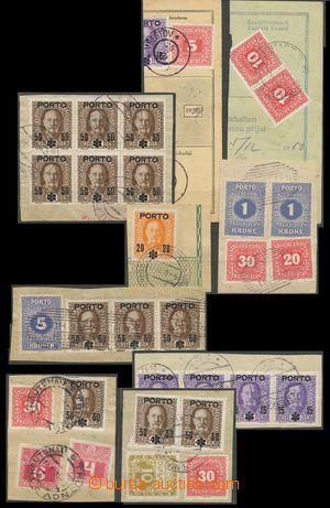 134450 - 1918-19 sestava 9ks výstřižků z průvodek a zúčtovacích archů