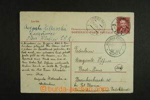 134640 - 1950 CDV96, PC abroad 3Kčs K. Gottwald, CDS LUDGEŘOVICE/ 24.