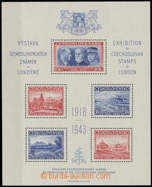 135746 - 1940 Exilové vydání, AS1, Londýnský aršík, pěkná kvalita, ka