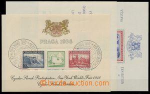 136394 - 1940-43 sestava 3ks aršíků, 2x Londýnský aršík, z toho 1x s