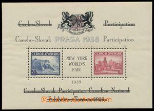 137007 - 1939 Pof.A342/343 Praga, černý státní znak a přítisk pro Svě