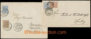 137417 - 1894-98 Mi.U5 and U6, comp. of 2 postal stationery covers wi