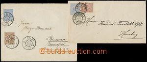 137417 - 1894-98 Mi.U5 a U6, sestava 2ks celinových obálek s přitiště