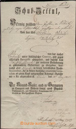 138733 - 1803 RAKOUSKO  předtištěný postrkový list Brno-Pavlovice, An