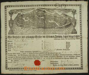 138734 - 1828 RAKOUSKO / MISTROVSKÝ LIST  s vedutou Brna na jméno Mat